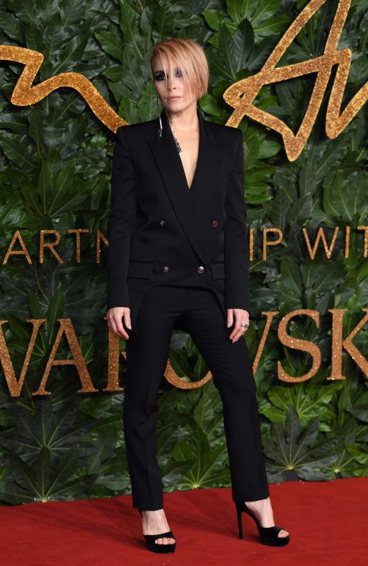 LONDON, ENGLAND - DECEMBER 10:  Noomi Rapace arrives at The Fashion Awards 2018 In Partnership With Swarovski at Royal Albert Hall on December 10, 2018 in London, England.  (Photo by Karwai Tang/WireImage)