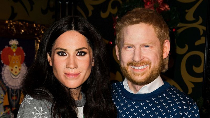 BERLIN, GERMANY - DECEMBER 11:  Live-Figures of Meghan, Duchess of Sussex and Prince Harry, Duke of Sussex are shown at Madame Tussauds on December 11, 2018 in Berlin, Germany.  (Photo by Matthias Nareyek/Getty Images)