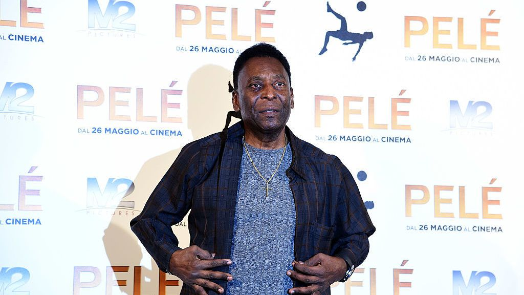MILAN, ITALY - MAY 25:  Edson Arantes do Nascimento aka Pele attends the 'Pele' photocall on May 25, 2016 in Milan, Italy.  (Photo by Pier Marco Tacca/Getty Images)