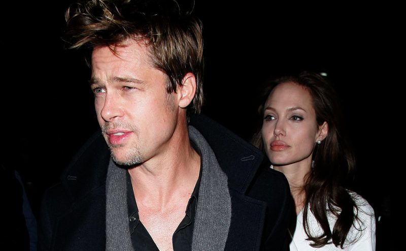 Brad Pitt and Angelina Jolie at the Streets of Manhattan in New York City, New York (Photo by James Devaney/WireImage)