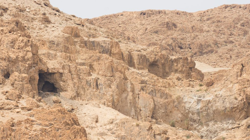 some of the caves of Qumran