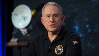 """This handout photo released by NASA shows New Horizons principal investigator Alan Stern of the Southwest Research Institute (SwRI), Boulder, CO, speaking at a press conference prior to the flyby of Ultima Thule by the New Horizons spacecraft, on December 31, 2018 at Johns Hopkins University Applied Physics Laboratory (APL) in Laurel, Maryland. - A NASA spacecraft on Tuesday January 1st, 2019, flew past the most distant world ever studied by humankind, Ultima Thule, a frozen relic of the early solar system that could reveal how planets formed. (Photo by NASA/Joel Kowsky / NASA / AFP) / RESTRICTED TO EDITORIAL USE - MANDATORY CREDIT """"AFP PHOTO / NASA / JOEL KOWSKY"""" - NO MARKETING NO ADVERTISING CAMPAIGNS - DISTRIBUTED AS A SERVICE TO CLIENTS ---"""