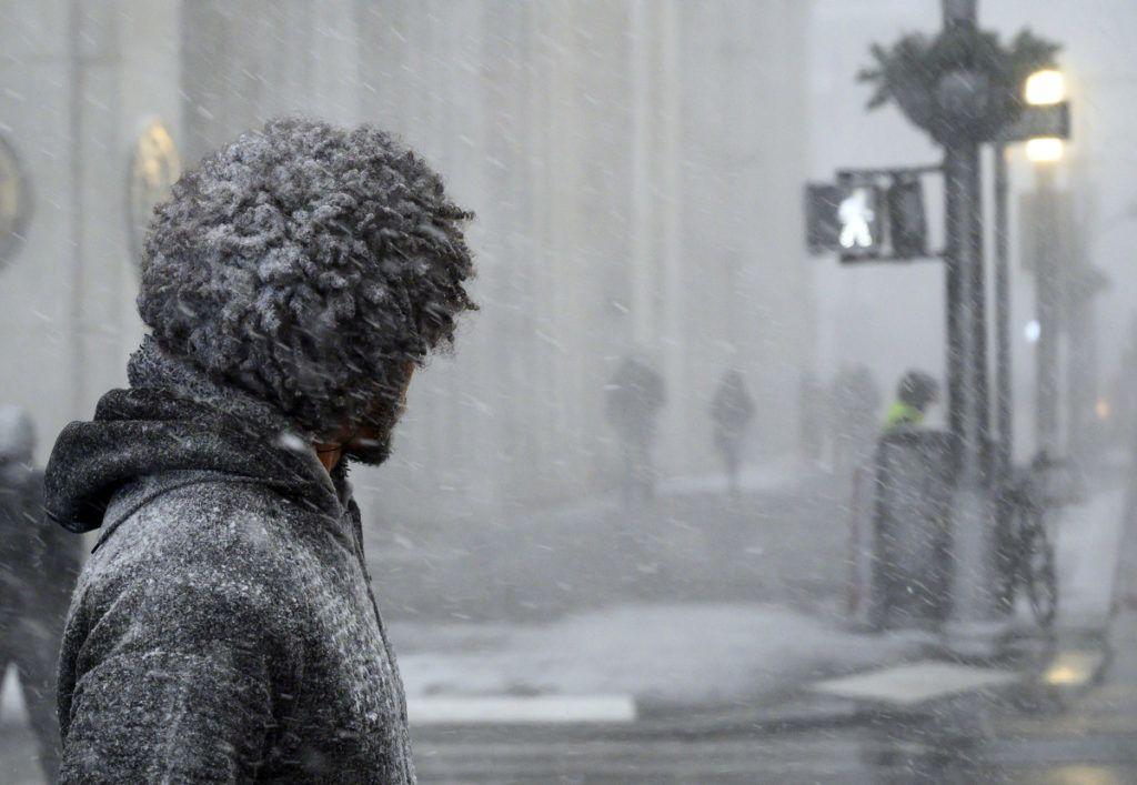 Járókelők ManhattanbenFotó:  Johannes Eisele / AFP
