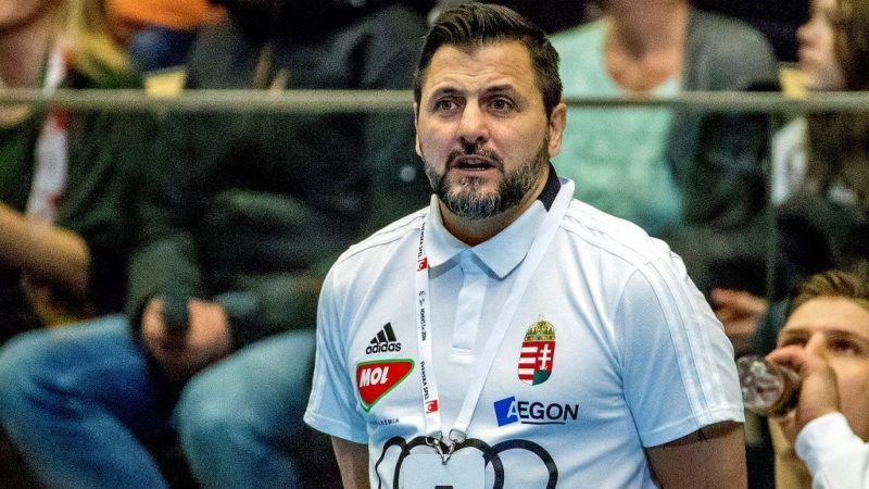 Hungary's coach Ljubomir Wranjes looks on during a friendly handball game between Sweden and Hungary at Partille Arena, in Partille on January 8, 2018. (Photo by Adam IHSE / TT NEWS AGENCY / AFP) / Sweden OUT