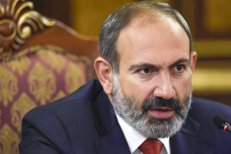 5728954 10.12.2018 Acting Armenian Prime Minister Nikol Pashinyan speaks to the media during a news conference in Yerevan, Armenia. Electoral bloc led by Pashinyan's Civil Contract Party won early parliamentary elections on Sunday, Dec. 9, election officials said. Asatur Yesayants/Sputnik / Sputnik