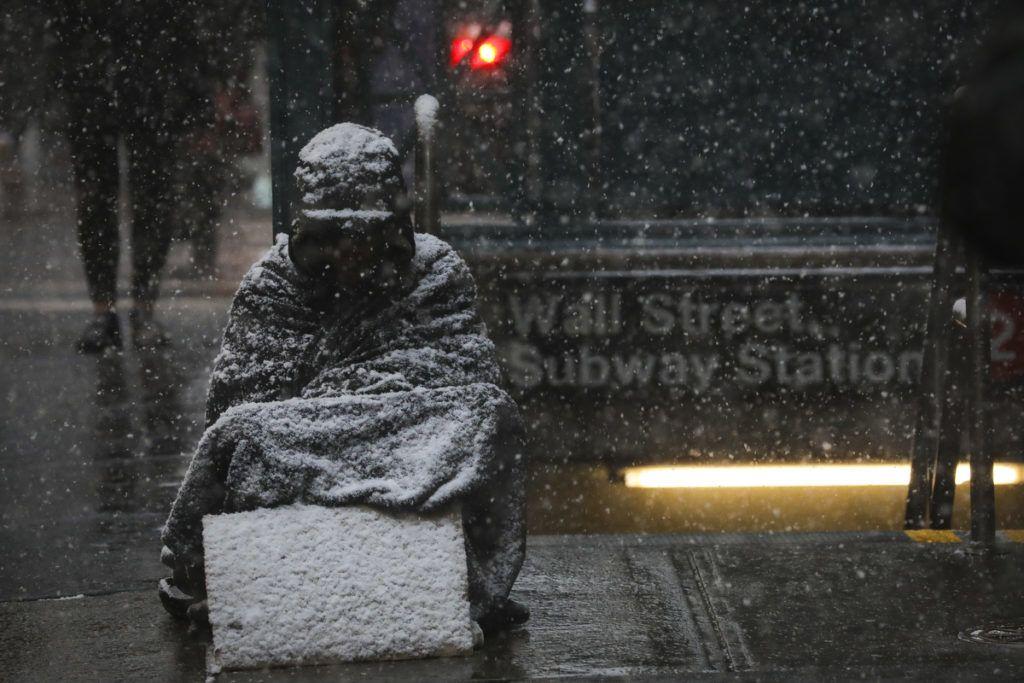 Hajléktalan New York-banFotó:Drew Angerer/Getty Images/AFP