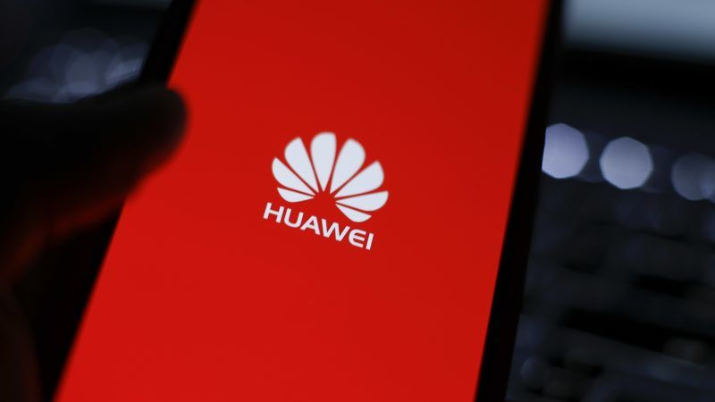 A mobile device with a Huawei logo is seen in this photo illustration on January 11, 2018. A Chinese employee of Huawei has been arrested in Poland on charges of espionage on behalf of the Chinese government. (Photo by Jaap Arriens/NurPhoto)