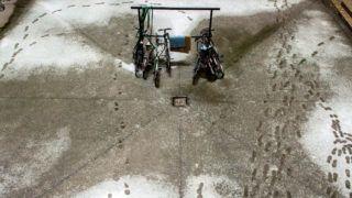 Budapest, 2017. február 1.Egy társasház udvara az ónos esőben Budapest belvárosában 2017. február 1-jén.MTI Fotó: Balogh Zoltán