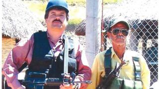 """This evidence undated photo released by the US Department of Justice on January 8, 2019, shows Mexican drug lord Joaquin """"El Chapo"""" Guzman (L), according to the department. - Guzman's trial, which began on November 5 with jury selection, is expected to last four months. He stands accused of smuggling more than 155 tons of cocaine into the United States over a period of 25 years. (Photo by HO / US DEPARTMENT OF JUSTICE / AFP) / RESTRICTED TO EDITORIAL USE - MANDATORY CREDIT """"AFP PHOTO / US Department of Justice"""" - NO MARKETING NO ADVERTISING CAMPAIGNS - DISTRIBUTED AS A SERVICE TO CLIENTS"""