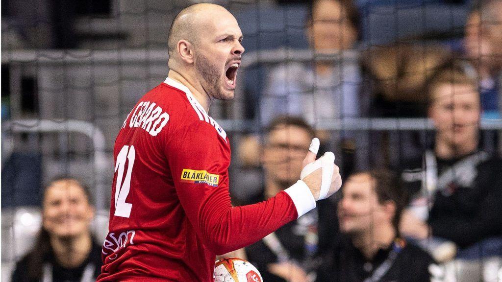 20 January 2019, North Rhine-Westphalia, Köln: Handball: WM, Iceland - France, main round, group 1, 2nd matchday. France's goalkeeper Vincent Gerard cheers for a ball held. Photo: Marius Becker/dpa