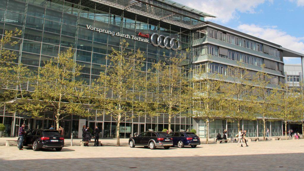 Germany: AUDI AG headquarters in Ingolstadt . 2014/04/22 | usage worldwide