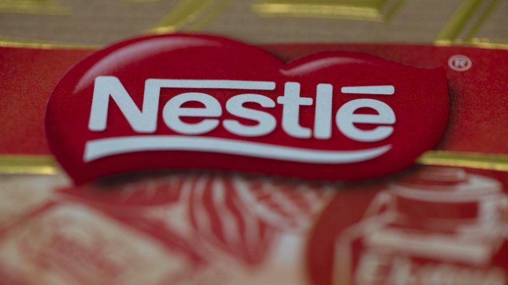 ANKARA, TURKEY - JULY 26 : The logo of Nestle is seen in Ankara, Turkey on July 26, 2018.    Aytac Unal / Anadolu Agency