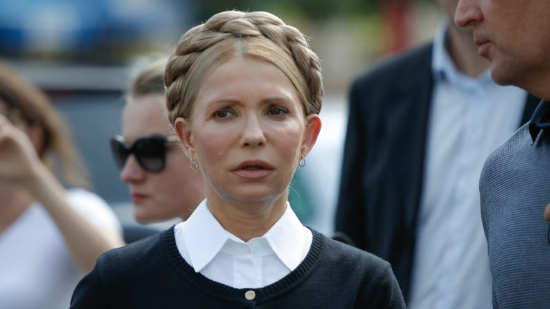 Ukrainian MP Yulia Timoshenko is seen at an impromptu press conference ahead of an attempt by her and former Georgian president Mikheil Saakashvili to reenter Ukraine on 10 September, 2017. Mister Saakashvili has been stripped of his Ukrainian citizenship in July by president Poroshenko after accusing the later of abetting corruption in the country. Since then he has been living in exile in Poland. (Photo by Jaap Arriens/NurPhoto)