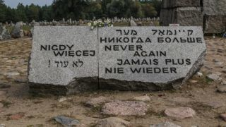 Symbolic cemetery on the site of a former German Nazi extermination camp built during WWII, now a (Shoah, holocaust) memorial is seen near Treblinka, Poland on 9 September 2018 Treblinka was second only to Auschwitz in the number of Jews who were killed by the Nazis - between 700,000 and 900,000. (Photo by Michal Fludra/NurPhoto)