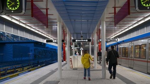 The Vienna Metro that covers the metropolitan area of Vienna, Austria. It consists of five lines with a total length of 78.5 km. September 17, 2018 (Photo by Oscar Gonzalez/NurPhoto)