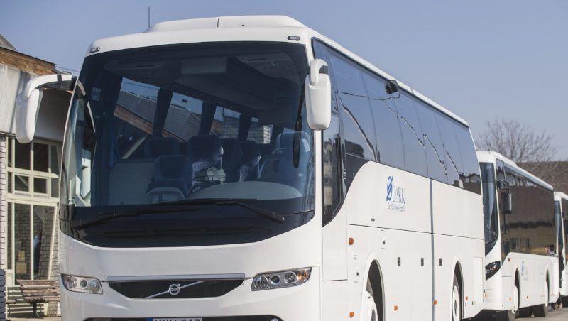 Kecskemét, 2015. február 20. A DAKK Dél-alföldi Közlekedési Központ Zrt. 2014-ben beszerzett 52 darab Volvo autóbuszából néhány a bemutató sajtótájékoztatón a kecskeméti buszpályaudvaron 2015. február 20-án. MTI Fotó: Ujvári Sándor