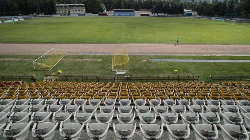 Eger, 2013. július 17.A Szentmarjay Tibor Városi Stadion Egerben 2013. július 17-én. A 92. születésnapját ünneplő Szentmarjay Tibor 1950-ben került Egerbe, ahol először labdarúgóként, majd edzőként dolgozott. 2011-ben róla nevezték el a város labdarúgó stadionját.MTI Fotó: Komka Péter