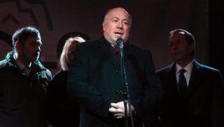 Miskolc, 2016. január 28. Kriza Ákos polgármester beszédet mond a miskolci kocsonyafesztivál megnyitóján 2016. január 28-án. MTI Fotó: Vajda János