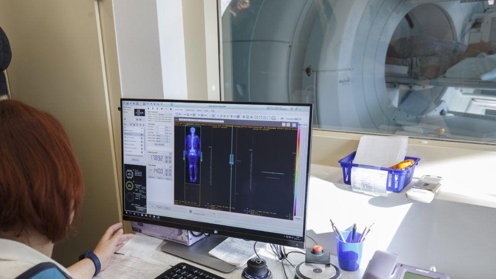 Szombathely, 2019. január 21. Az új PET-CT a szombathelyi Markusovszky Egyetemi Oktatókórházban megvalósult, több mint 1,1 milliárd forint értékû, elsõsorban az onkológiai ellátást érintõ fejlesztés átadásának napján, 2019. január 21-én. MTI/Varga György