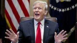 Washington, 2019. január 2. Donald Trump amerikai elnök újévi kabinetülést tart a washingtoni Fehér Házban 2019. január 2-án. MTI/EPA/Michael Reynolds