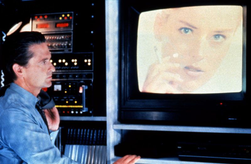 Basic instinct 1992 Real  Paul Verhoeven Michael Douglas Sharon Stone. COLLECTION CHRISTOPHEL © Carolco Pictures / Canal +