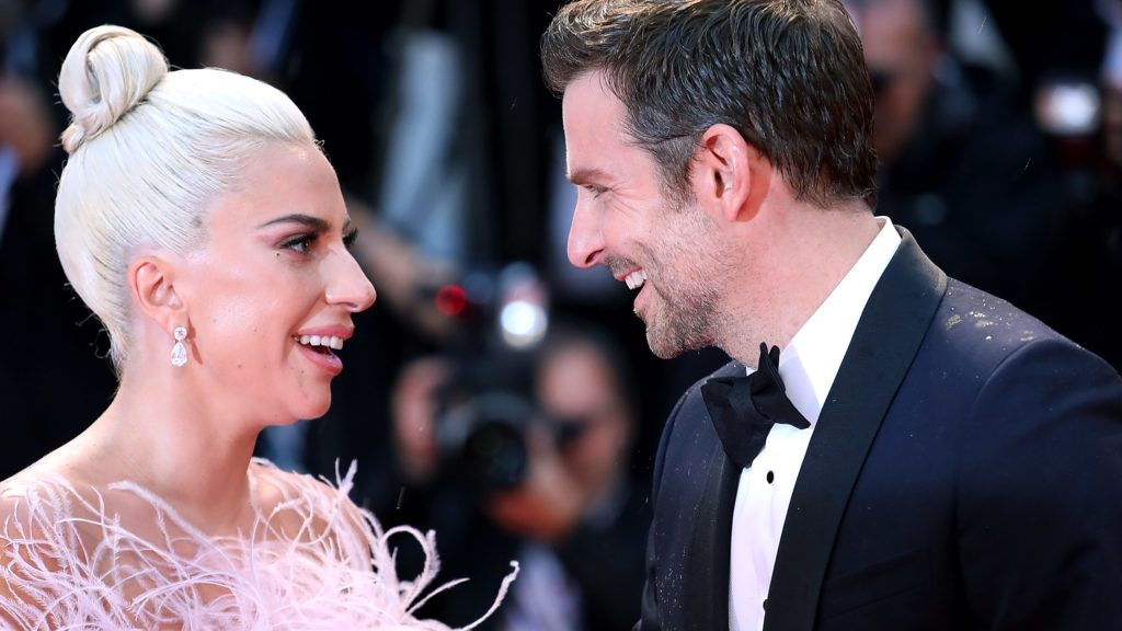 VENICE, ITALY - AUGUST 31:  Lady Gaga and Bradley Cooper walks the red carpet ahead of the 'A Star Is Born' screening during the 75th Venice Film Festival at Sala Grande on August 31, 2018 in Venice, Italy.  (Photo by Maria Moratti/Contigo/Getty Images)