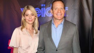 """LAS VEGAS, NV - SEPTEMBER 13:  Journalist Emily Smith (L) and her fiance, actor Steve Guttenberg, attend Freestyle Releasing's world premiere of """"Bigger"""" at the Orleans Arena on September 13, 2018 in Las Vegas, Nevada.  (Photo by Gabe Ginsberg/FilmMagic)"""