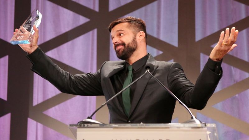 BEVERLY HILLS, CA - SEPTEMBER 22:  Honoree Ricky Martin accepts the Vanguard Award onstage at the Los Angeles LGBT Center's 49th Anniversary Gala Vanguard Awards at The Beverly Hilton Hotel on September 22, 2018 in Beverly Hills, California.  (Photo by Maury Phillips/Getty Images for Los Angeles LGBT Center )