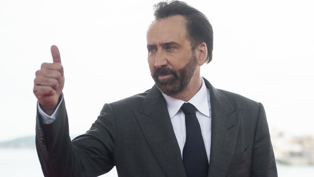 American actor Nicolas Cage at the photocall of Mandy during the 51 edition of Festival Internacional de Cinema Fantastic de Catalunya Sitges 2018 in Sitges , Barcelona on 06 October 2018  (Photo by Peter Sabok/COOLMEDIA/NurPhoto via Getty Images)
