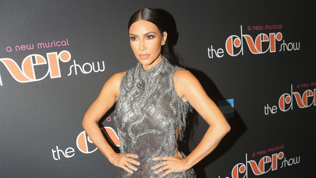"""NEW YORK, NY - DECEMBER 03:  Kim Kardashian West poses at the opening night of the new musical """"The Cher Show"""" on Broadway at The Neil Simon Theatre on December 3, 2018 in New York City.  (Photo by Bruce Glikas/Bruce Glikas/FilmMagic)"""