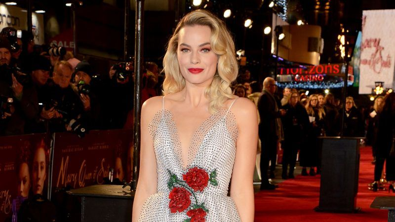 """LONDON, ENGLAND - DECEMBER 10:  Margot Robbie attends the European Premiere of """"Mary Queen of Scots"""" at Cineworld Leicester Square on December 10, 2018 in London, England. (Photo by Dave J Hogan/Dave J Hogan/Getty Images)"""