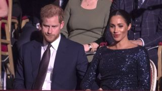 """LONDON, ENGLAND - JANUARY 16: Prince Harry, Duke of Sussex and Meghan, Duchess of Sussex attend the Cirque du Soleil Premiere Of """"TOTEM"""" at Royal Albert Hall on January 16, 2019 in London, England. (Photo by Paul Grover - WPA Pool/Getty Images)"""