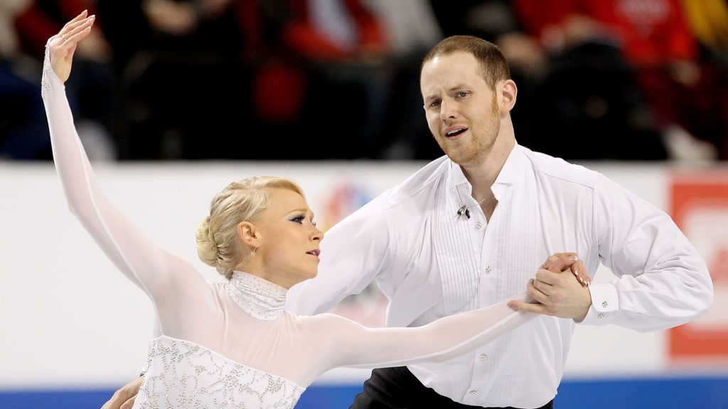 GREENSBORO, NC - JANUARY 29:  Caitlin Yankowskas and John Coughlin compete in the Championship Pairs Free Skate during the U.S. Figure Skating Championships at the Greensboro Coliseum on January 29, 2011 in Greensboro, North Carolina.  (Photo by Matthew Stockman/Getty Images)