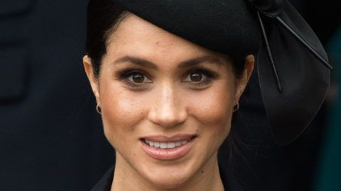 KING'S LYNN, ENGLAND - DECEMBER 25: Meghan Markle attends Christmas Day Church service at Church of St Mary Magdalene on the Sandringham estate on December 25, 2018 in King's Lynn, England. (Photo by Samir Hussein/WireImage)