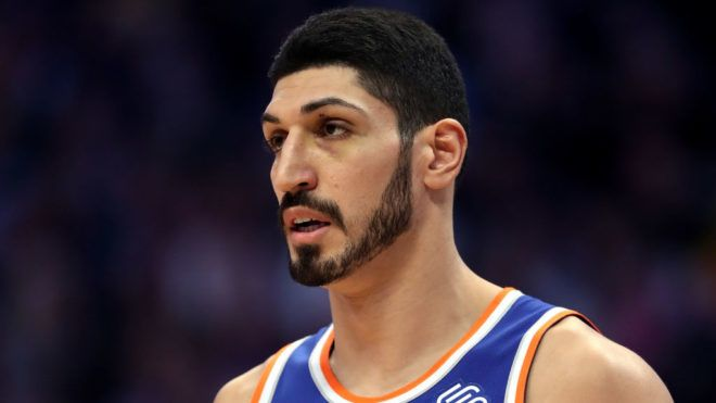 DENVER, COLORADO - JANUARY 01: Enes Kanter #00 of the New York Knicks plays the Denver Nuggets at the Pepsi Center on January 01, 2019 in Denver, Colorado. NOTE TO USER: User expressly acknowledges and agrees that, by downloading and or using this photograph, User is consenting to the terms and conditions of the Getty Images License Agreement.(Photo by Matthew Stockman/Getty Images)