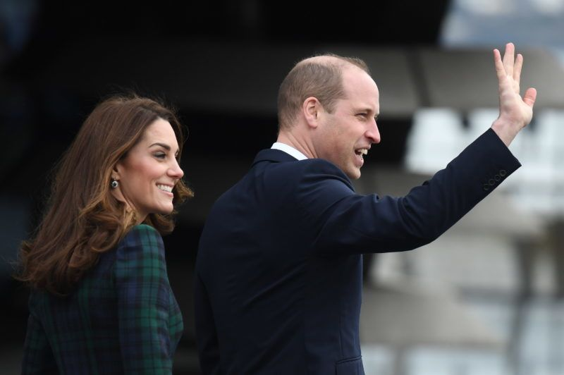 DUNDEE, SCOTLAND - JANUARY 29: Catherine, Duchess of Cambridge and Prince William, Duke of Cambridge arrive to officially open V&A Dundee on January 29, 2019 in Dundee, Scotland. (Photo by Jeff J Mitchell/Getty Images)