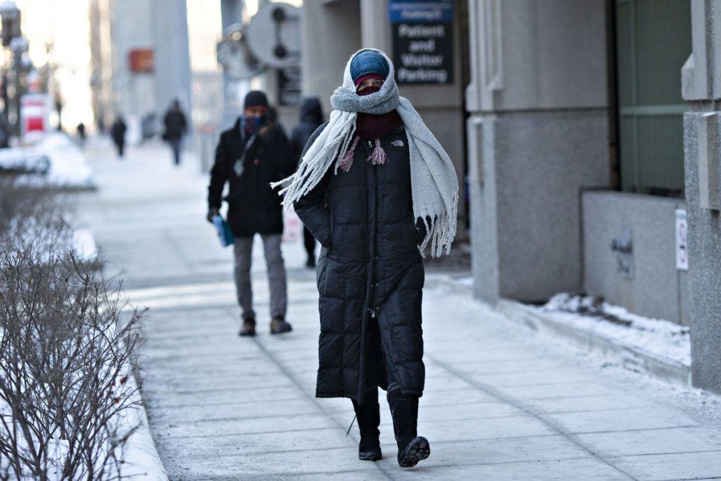 Járókelők ChichagobanFotó: Daniel Acker/Bloomberg/ Getty Images