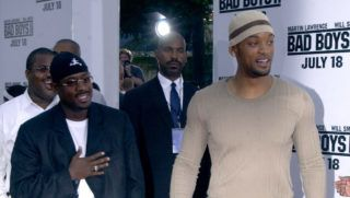 """Martin Lawrence and Will Smith during """"Bad Boys II"""" Premiere in Westwood, California, United States. (Photo by Albert L. Ortega/WireImage)"""