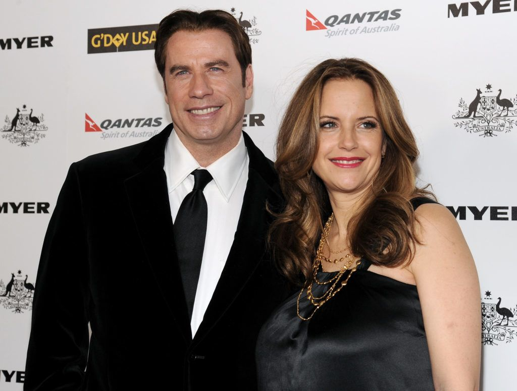 "John Travolta and Kelly Preston attend ""G'Day USA 2011"" Black Tie Gala at Hollywood Palladium on January 22, 2011 in Hollywood, California. (Photo by John Sciulli/WireImage)"