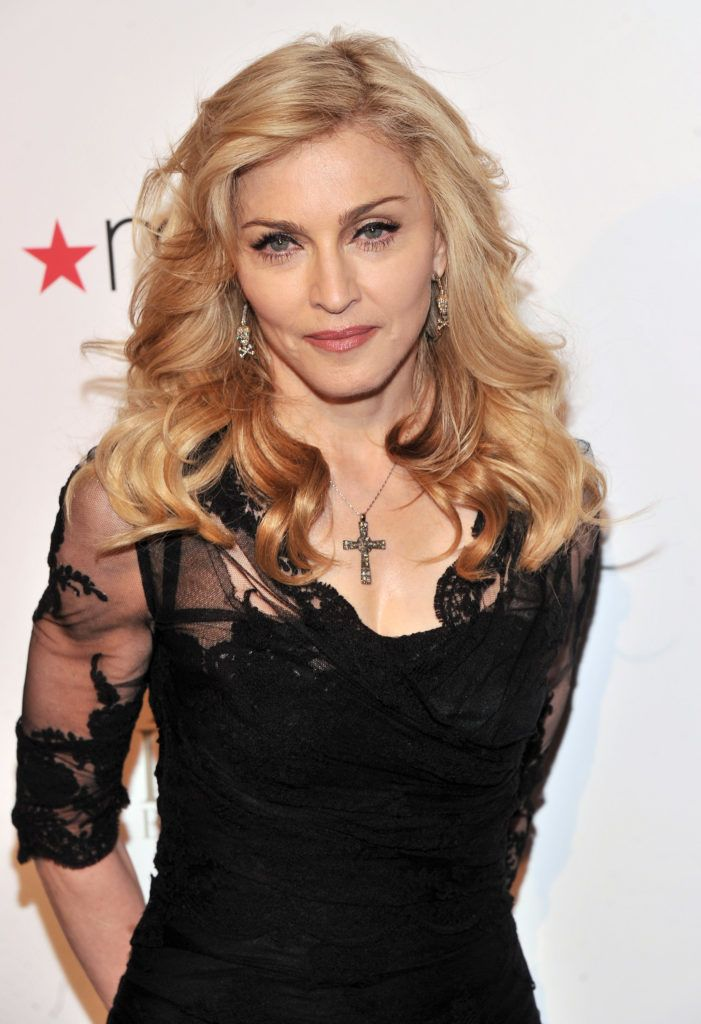 """NEW YORK, NY - APRIL 12:  Singer Madonna Launches Her Signature Fragrance """"Truth Or Dare"""" By Madonna  Macy's Herald Square on April 12, 2012 in New York City.  (Photo by Stephen Lovekin/Getty Images)"""