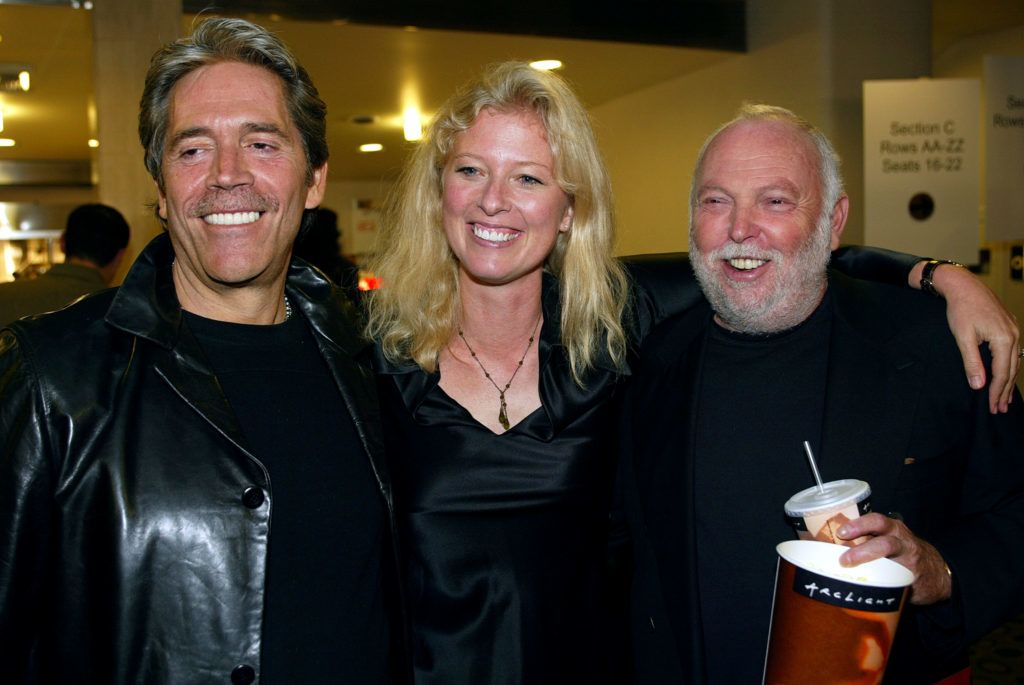 """Producers Mario Kassa, Jenno Topping and Andy Vajna at the """"I SPY"""" movie premiere at the Cinerama Dome in Hollywood, Ca. Wednesday, Oct. 23, 2002. Photo by Kevin Winter/Getty Images"""