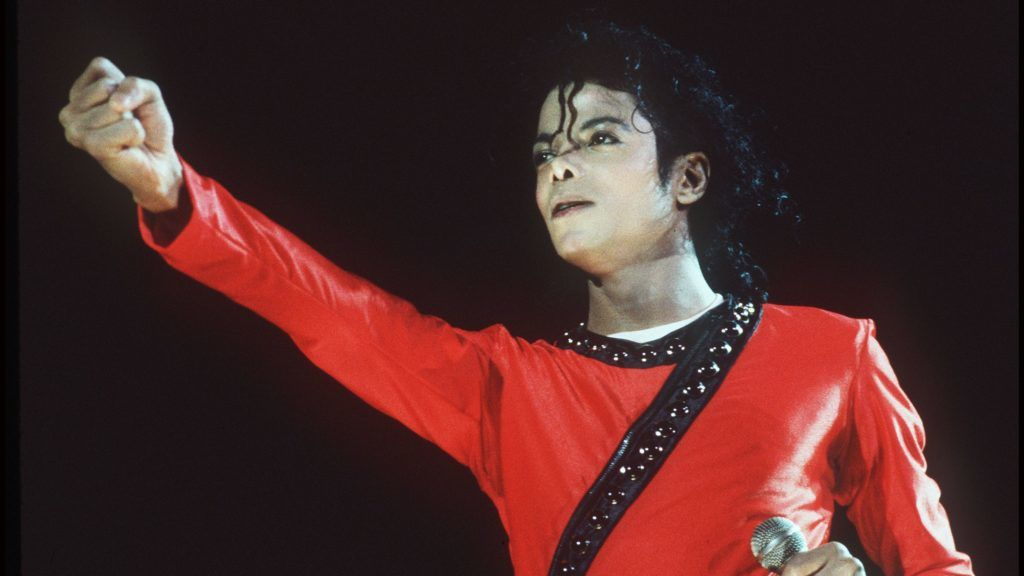 LONDON - 1987: Music star Michael Jackson performs during the Bad Tour in 1987 at Wembley Stadium, in London. (Photo by Dave Hogan/Getty Images)