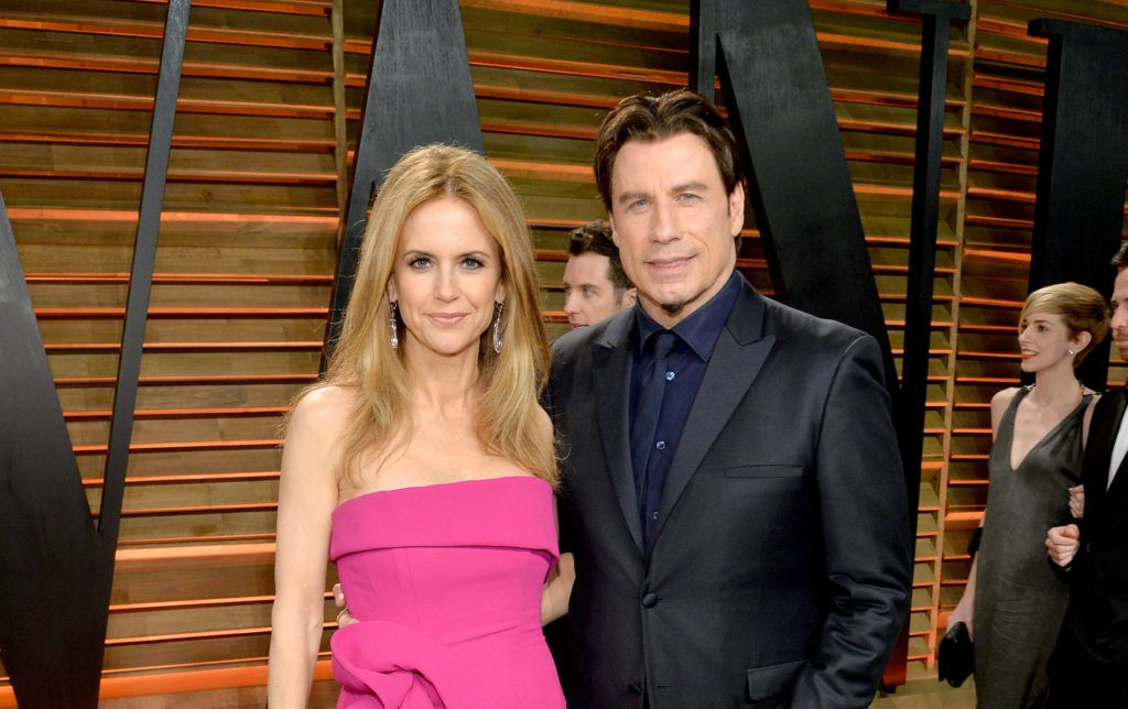 WEST HOLLYWOOD, CA - MARCH 02:  Actors Kelly Preston (L) and John Travolta attend the 2014 Vanity Fair Oscar Party Hosted By Graydon Carter on March 2, 2014 in West Hollywood, California.  (Photo by Larry Busacca/VF14/Getty Images for Vanity Fair)