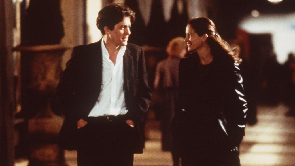 """1999 Julia Roberts And Hugh Grant Star In The Premiere Of """"Notting Hill.""""  (Photo By Getty Images)"""