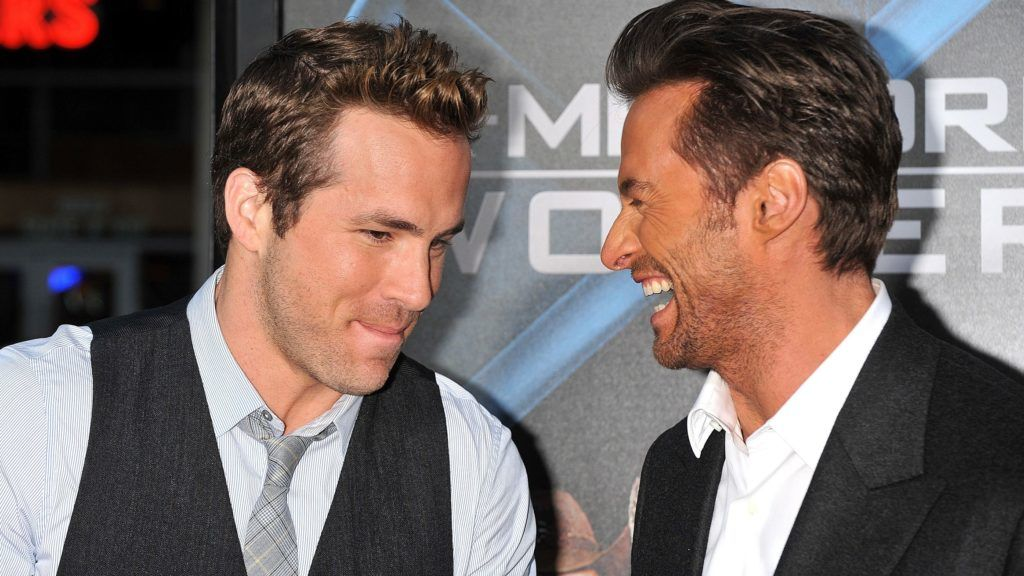 """Actors Hugh Jackman and Ryan Reynolds arrive at the premiere of """"X-Men Origins: Wolverine held at Grauman's Chinese Theater.  (Photo by Frank Trapper/Corbis via Getty Images)"""