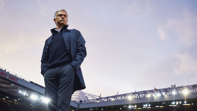 MANCHESTER, ENGLAND - AUGUST 19:  Jose Mourinho, Manager of Manchester United looks on prior to the Premier League match between Manchester United and Southampton at Old Trafford on August 19, 2016 in Manchester, England.  (Photo by Michael Regan/Getty Images)