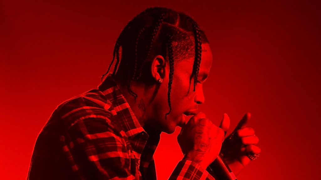 LOS ANGELES, CA - SEPTEMBER 09:  Travis Scott performs at Kailand's Swaggy 16th birthday party at Belasco Theatre on September 9, 2017 in Los Angeles, California.  (Photo by Randy Shropshire/Getty Images)