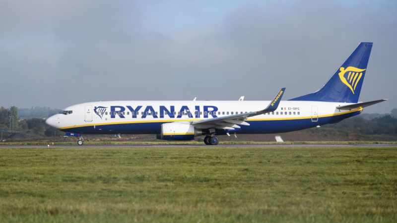 LUTON, ENGLAND - SEPTEMBER 19:  A Ryanair passenger plane taxis on the runway at Luton airport on September 19, 2017 in Luton, England. Passengers are facing severe travel disruption after the airline has announced it will be cancelling 40-50 flights every day over the coming six weeks, due to an error in their planning of pilot holidays.  (Photo by Leon Neal/Getty Images)