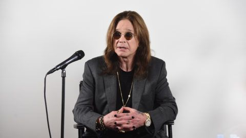 """LOS ANGELES, CA - FEBRUARY 06:  Ozzy Osbourne Announces """"No More Tours 2"""" Final World Tour at Press Conference at his Los Angeles Home on February 6, 2018 in Los Angeles, California.  (Photo by Kevin Winter/Getty Images for Live Nation)"""