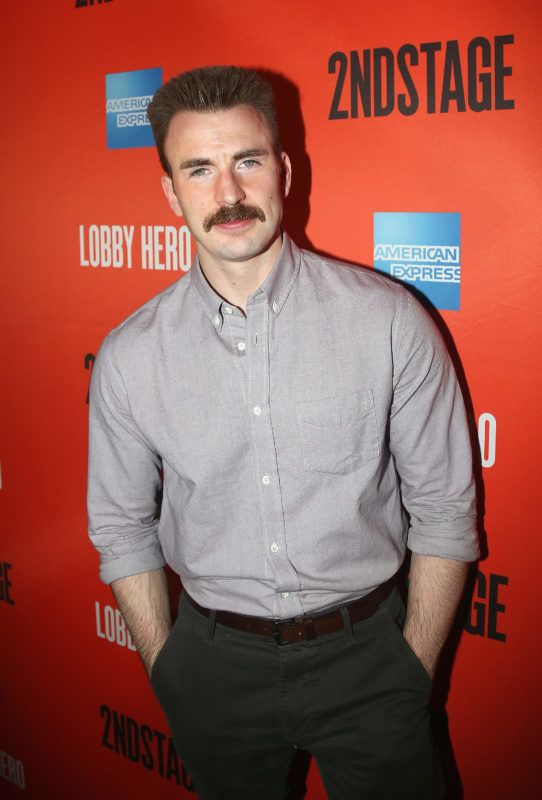 """NEW YORK, NY - MARCH 26:  Chris Evans poses at the opening night after party for the play """"Lobby Hero"""" on Broadway at Bryant Park Grill on March 26, 2018 in New York City.  (Photo by Bruce Glikas/Bruce Glikas/FilmMagic)"""